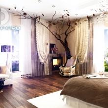 Дизайн интерьера: Воздушная спальня