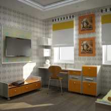 Дизайн интерьера: Уютная детская
