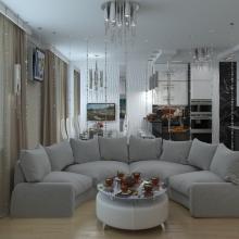 Дизайн интерьера: Гостиная в современном стиле