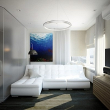 Дизайн интерьера: Квартира для семейной пары 44,5 м2