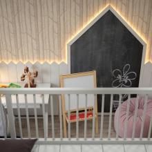 Дизайн интерьера: Спальня для девочки