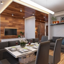 Дизайн интерьера: Уютная студия 30 м2