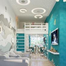 Дизайн интерьера: Детская для космонавта