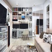 Дизайн интерьера: Квартира для двоих