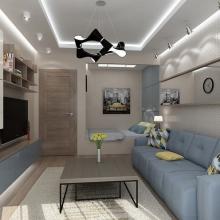 Дизайн интерьера: Однокомнатная квартира