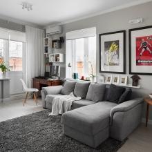 Дизайн интерьера: Однокомнатная квартира - 30 м2