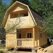 Проект дома: Баня из профилированного бруса 6х4