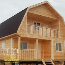 Проект дома: Двухэтажная баня 6х6