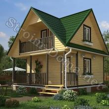 Проект дома: № 1 — Проект дома «Евгений» из профилированного бруса 6×6 метров