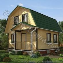 Проект дома: № 2 — Проект дома «Арсений» из профилированного бруса 6×6 метров