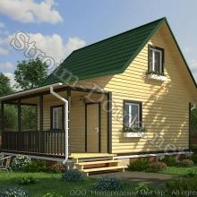 Проект дома: № 3 — Проект дома «Петр» из профилированного бруса 6×6 метров