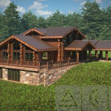 Проект дома: Банный комплекс из круглого бревна