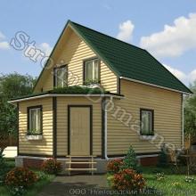 Проект дома: № 4 — Проект дома «Владимир» из профилированного бруса 8.5×6 метров