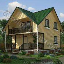 Проект дома: № 5 — Проект дома «Александр» из профилированного бруса 6×8 метров