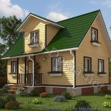 Проект дома: № 6 — Проект дома «Максим» из профилированного бруса 6×9 метров