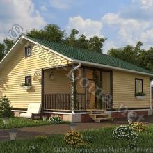 Проект дома: № 7 — Проект дома «Денис» из профилированного бруса 8×9 метров