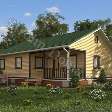Проект дома: № 8 — Проект дома «Василий» из профилированного бруса 9×12 метров