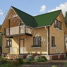 Проект дома: № 9 — Проект дома «Андрей» из профилированного бруса 9×6 метров