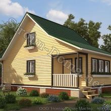 Проект дома: № 10 — Проект дома «Ярослав» из профилированного бруса 6×10 метров