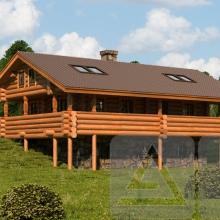 Проект дома: Дом на холме