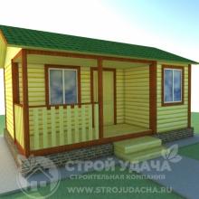 Проект дома: Д-1 Дом из бруса 4х6