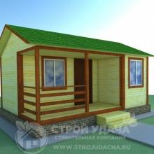 Проект дома: К-1 Каркасный дом 4х6