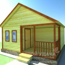 Проект дома: Д-1.2 Дом из бруса 6х6