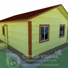 Проект дома: К-1.7 каркасный дом 6х6