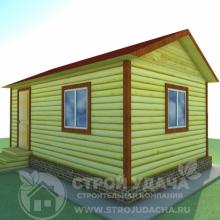 Проект дома: Д-2 Дом из бруса 4х6
