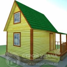 Проект дома: Д-3 Дом из бруса 6х4 с мансардой