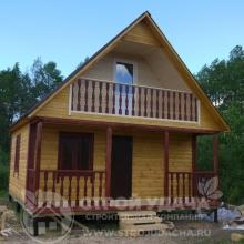 Проект дома: Д-12 Дом из бруса 6х6 с балконом