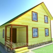 Проект дома: Д-79 Дом из бруса 6х8
