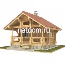 Проект дома: Баня из оцилиндрованного 5,40х5,40