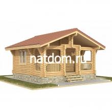 Проект дома: Баня из оцилиндрованного бревна 6х6