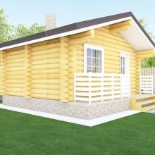 Проект дома: Баня 5.4 х 4.5 (м)