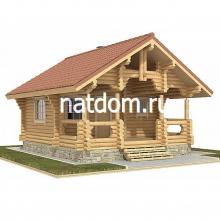 Проект дома: Баня из оцилиндрованного бревна 6х7
