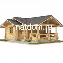 Проект дома: Баня из оцилиндрованного бревна 6х9