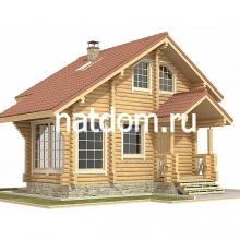 Проект дома: Баня из оцилиндрованного бревна 6,4х7,2