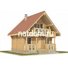 Проект дома: Баня из оцилиндрованного бревна 7х6
