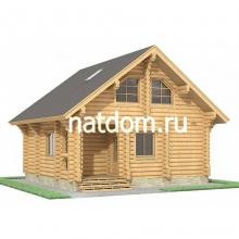Проект дома: Баня из оцилиндрованного бревна 7,2х7,8