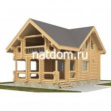 Проект дома: Баня из оцилиндрованного бревна