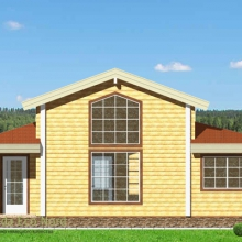 Проект дома: Дом из бруса 175х175 В-363 76кв.м