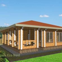 Проект дома: Дом из бруса 210х210 В-339 74кв.м