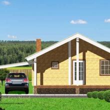 Проект дома: Дом из бруса 190х140 В-378 98кв.м два этажа