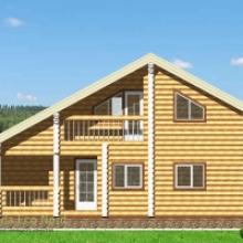 Проект дома: Дом из бревна 240 В-349 130кв.м