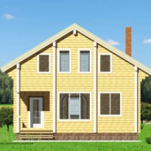 Проект дома: Дом из бруса 175х175 В-367 151кв.м