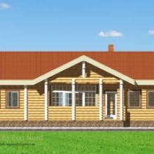 Проект дома: Дом из бревна 220 129кв.м