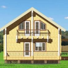 Проект дома: Дом из бруса 185х185 В-350 131кв.м