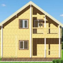 Проект дома: Дом из бруса 160х160 В-347 111кв.м