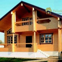 Проект дома: Дом клееный брус Б-130 м кв